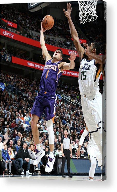 Nba Pro Basketball Acrylic Print featuring the photograph Devin Booker by Melissa Majchrzak
