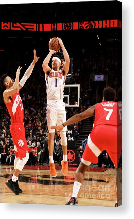 Nba Pro Basketball Acrylic Print featuring the photograph Devin Booker by Ron Turenne