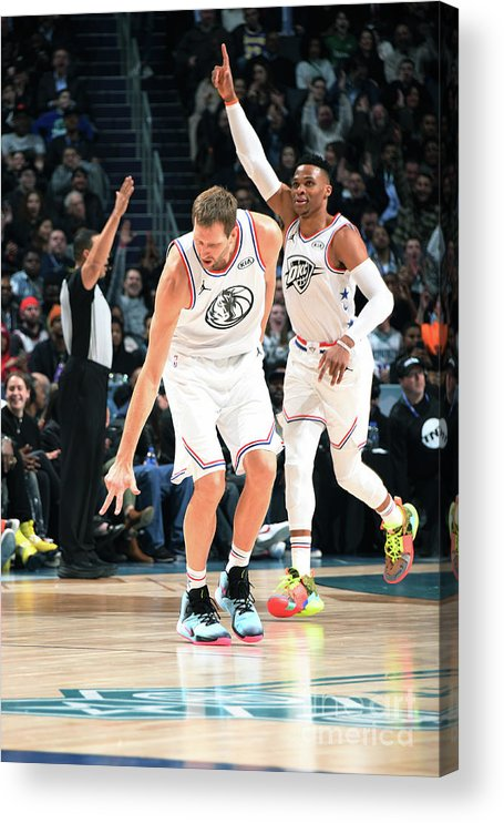 Nba Pro Basketball Acrylic Print featuring the photograph Dirk Nowitzki by Andrew D. Bernstein