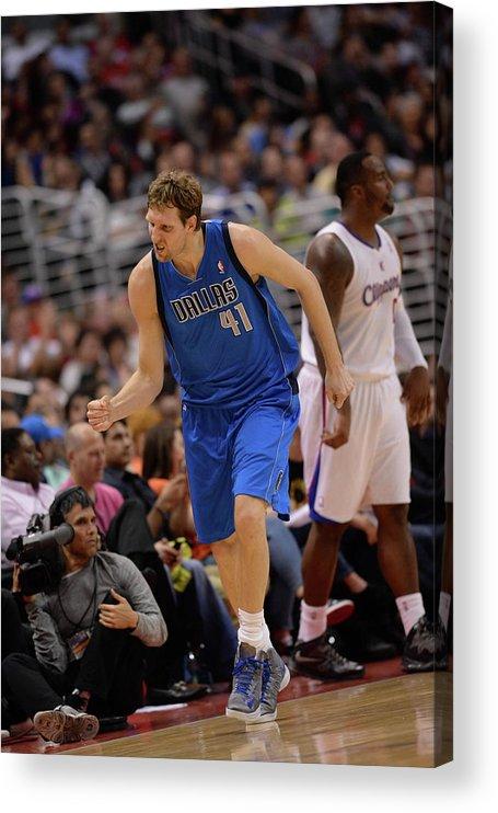 Nba Pro Basketball Acrylic Print featuring the photograph Dirk Nowitzki by Noah Graham