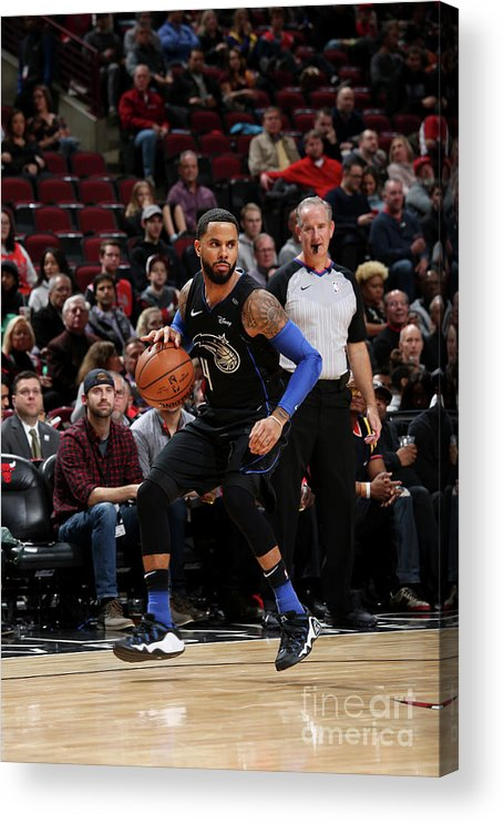 Nba Pro Basketball Acrylic Print featuring the photograph D.j. Augustin by Gary Dineen