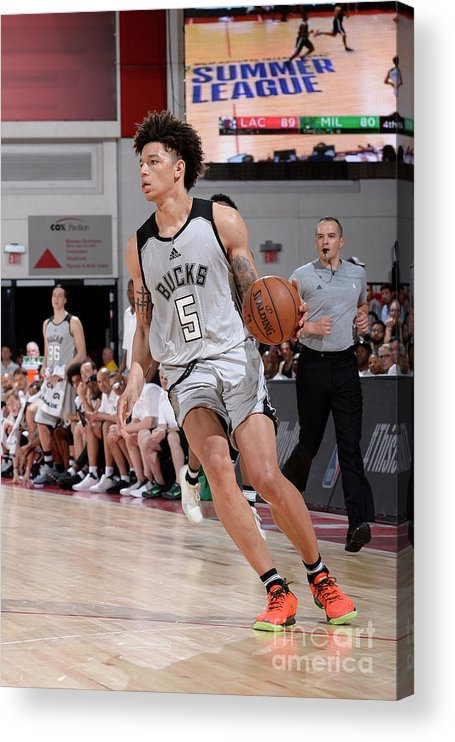 Nba Pro Basketball Acrylic Print featuring the photograph D.j. Wilson by David Dow