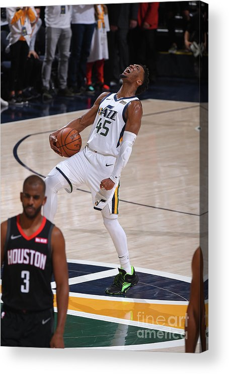 Playoffs Acrylic Print featuring the photograph Donovan Mitchell by Bill Baptist