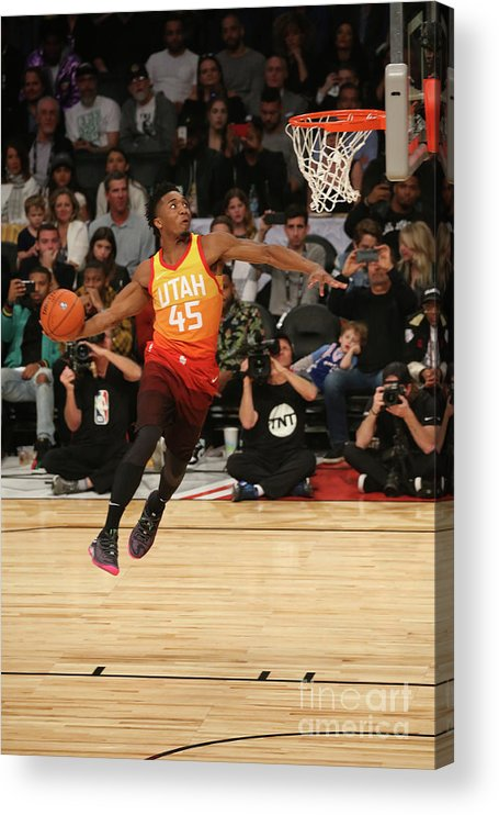 Event Acrylic Print featuring the photograph Donovan Mitchell by Gary Dineen