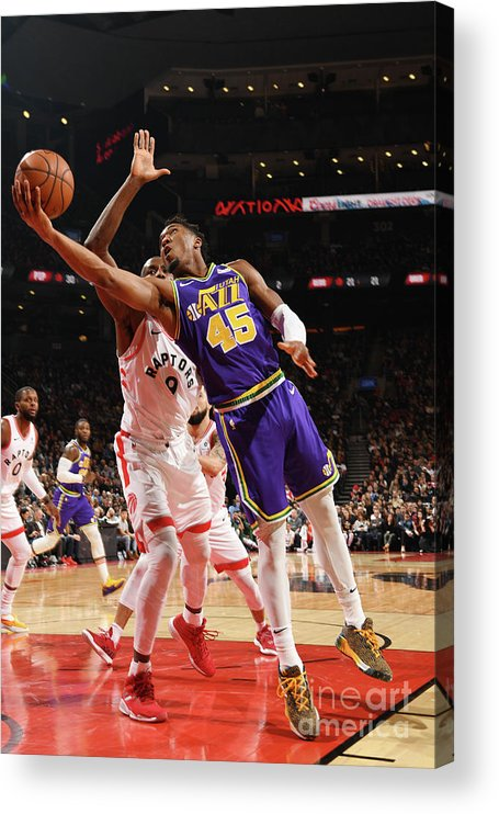 Nba Pro Basketball Acrylic Print featuring the photograph Donovan Mitchell by Ron Turenne