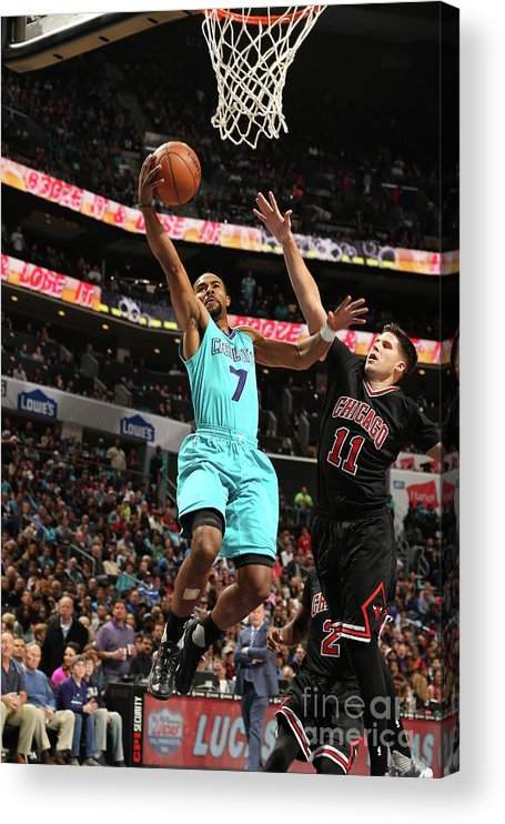 Nba Pro Basketball Acrylic Print featuring the photograph Doug Mcdermott and Ramon Sessions by Kent Smith