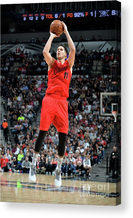 Nba Pro Basketball Acrylic Print featuring the photograph Doug Mcdermott by Mark Sobhani