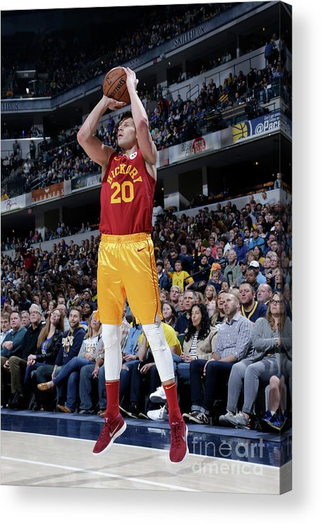 Nba Pro Basketball Acrylic Print featuring the photograph Doug Mcdermott by Ron Hoskins