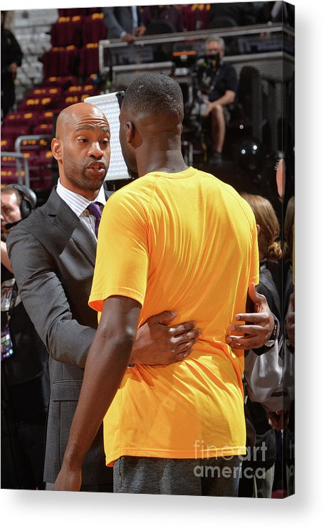 Playoffs Acrylic Print featuring the photograph Draymond Green and Vince Carter by Jesse D. Garrabrant