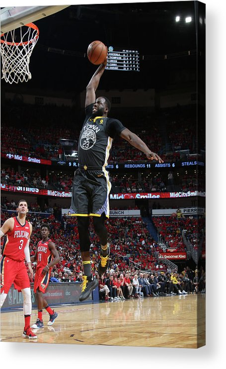 Smoothie King Center Acrylic Print featuring the photograph Draymond Green by Layne Murdoch