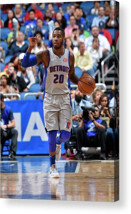 Nba Pro Basketball Acrylic Print featuring the photograph Dwight Buycks by Fernando Medina