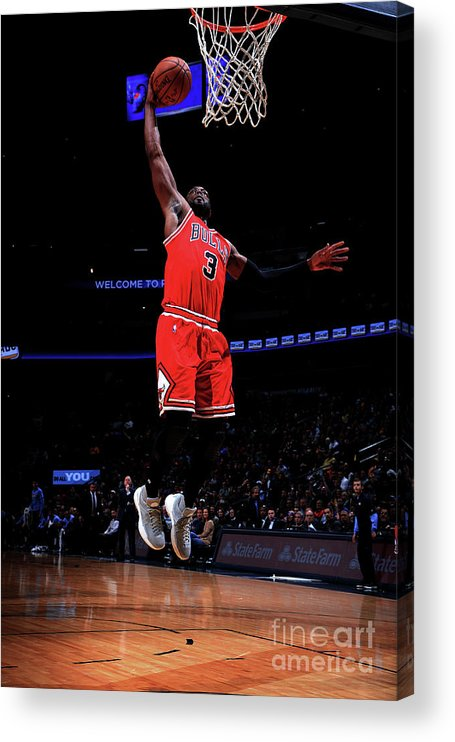 Nba Pro Basketball Acrylic Print featuring the photograph Dwyane Wade by Bart Young