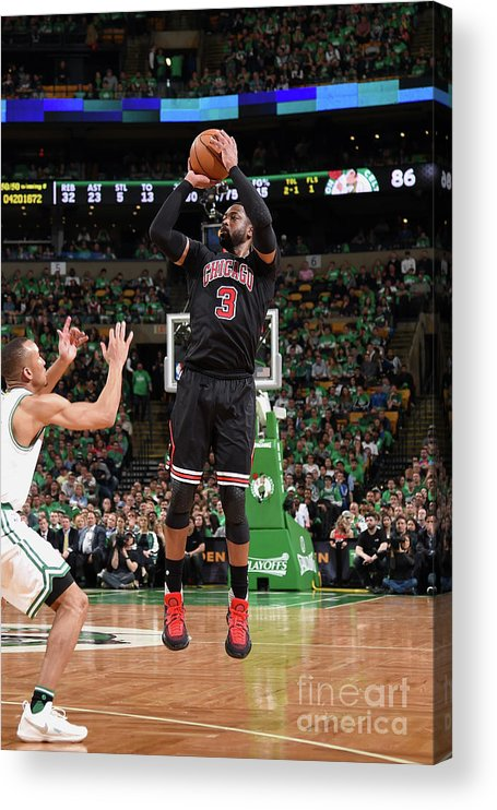 Playoffs Acrylic Print featuring the photograph Dwyane Wade by Brian Babineau