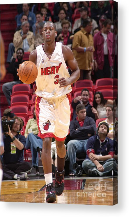 Nba Pro Basketball Acrylic Print featuring the photograph Dwyane Wade by Fernando Medina