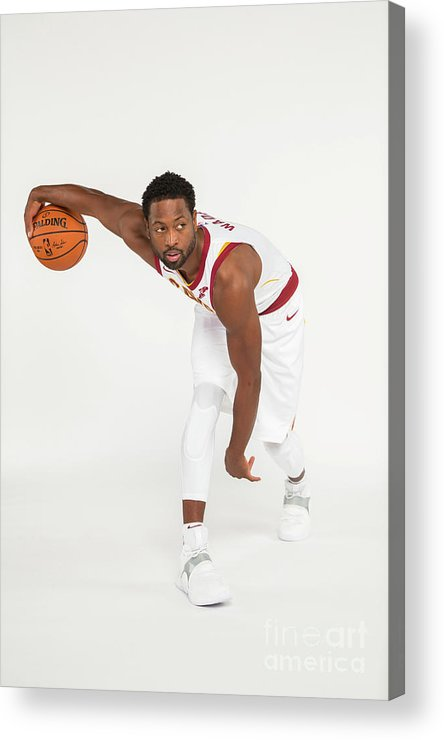 Media Day Acrylic Print featuring the photograph Dwyane Wade by Michael J. Lebrecht Ii