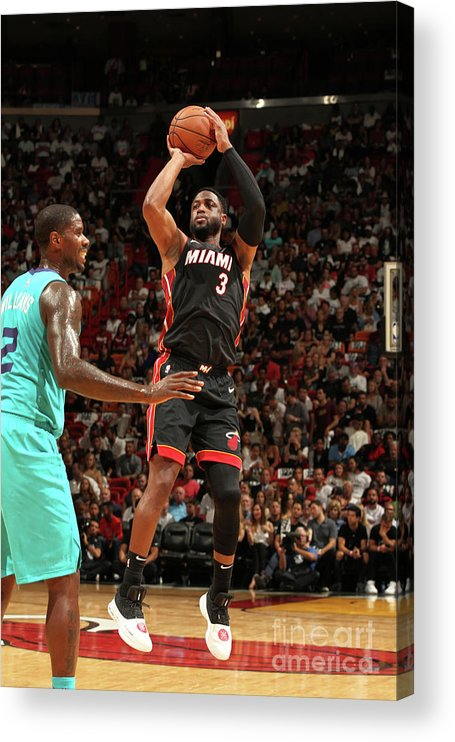 Nba Pro Basketball Acrylic Print featuring the photograph Dwyane Wade by Oscar Baldizon