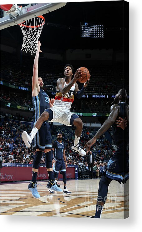 Smoothie King Center Acrylic Print featuring the photograph Elfrid Payton by Layne Murdoch Jr.