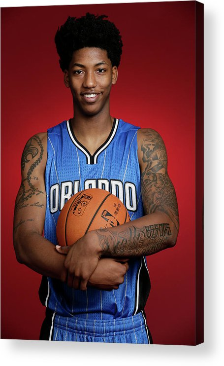 Nba Pro Basketball Acrylic Print featuring the photograph Elfrid Payton by Steve Freeman