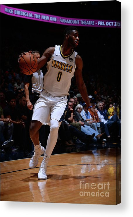 Nba Pro Basketball Acrylic Print featuring the photograph Emmanuel Mudiay by Bart Young