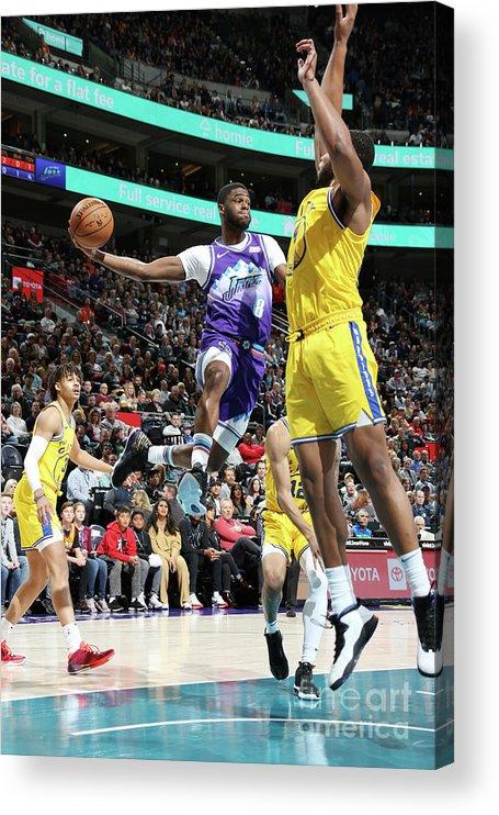 Nba Pro Basketball Acrylic Print featuring the photograph Emmanuel Mudiay by Melissa Majchrzak