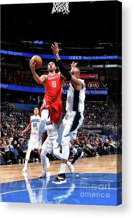 Nba Pro Basketball Acrylic Print featuring the photograph Eric Gordon by Fernando Medina