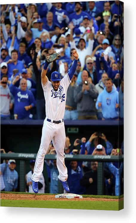 American League Baseball Acrylic Print featuring the photograph Eric Hosmer by Dilip Vishwanat