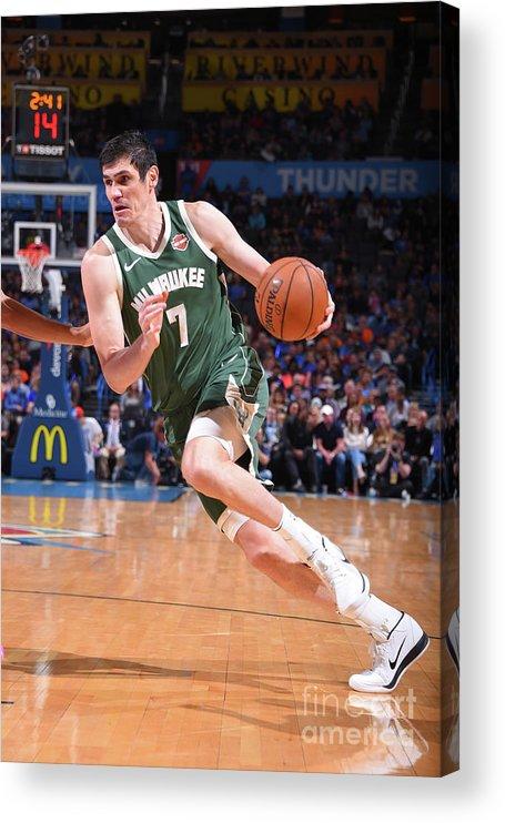 Nba Pro Basketball Acrylic Print featuring the photograph Ersan Ilyasova by Bill Baptist
