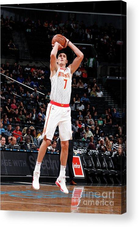 Nba Pro Basketball Acrylic Print featuring the photograph Ersan Ilyasova by Nathaniel S. Butler
