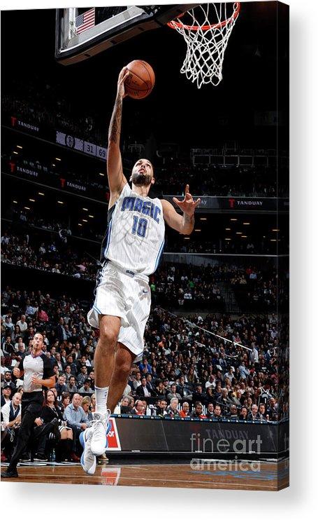 Nba Pro Basketball Acrylic Print featuring the photograph Evan Fournier by Nathaniel S. Butler
