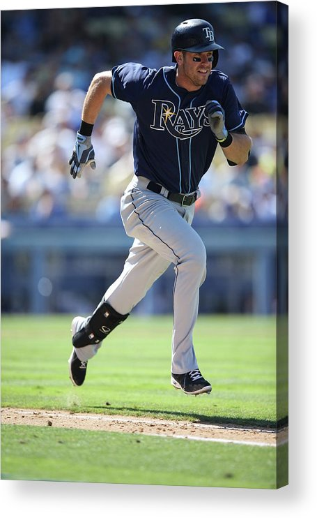 American League Baseball Acrylic Print featuring the photograph Evan Longoria by Paul Spinelli