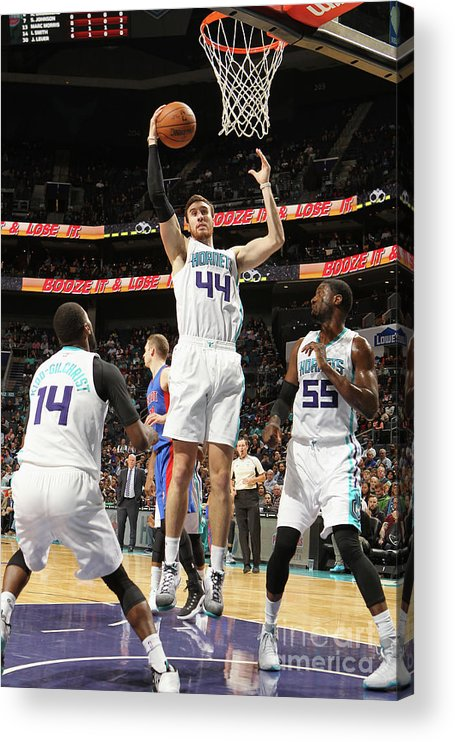Nba Pro Basketball Acrylic Print featuring the photograph Frank Kaminsky by Brock Williams-smith
