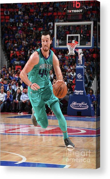 Nba Pro Basketball Acrylic Print featuring the photograph Frank Kaminsky by Chris Schwegler
