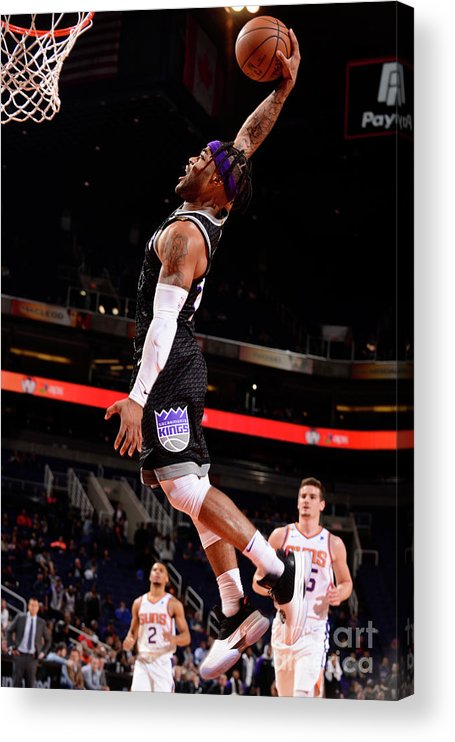 Nba Pro Basketball Acrylic Print featuring the photograph Frank Mason by Barry Gossage