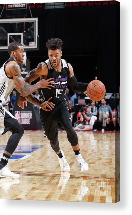Nba Pro Basketball Acrylic Print featuring the photograph Frank Mason by Jack Arent