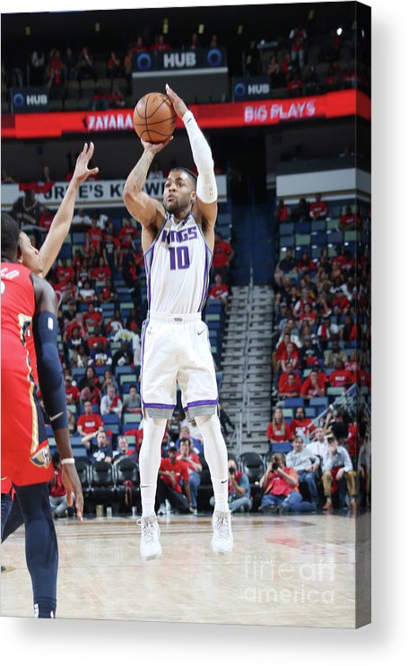 Smoothie King Center Acrylic Print featuring the photograph Frank Mason by Layne Murdoch Jr.