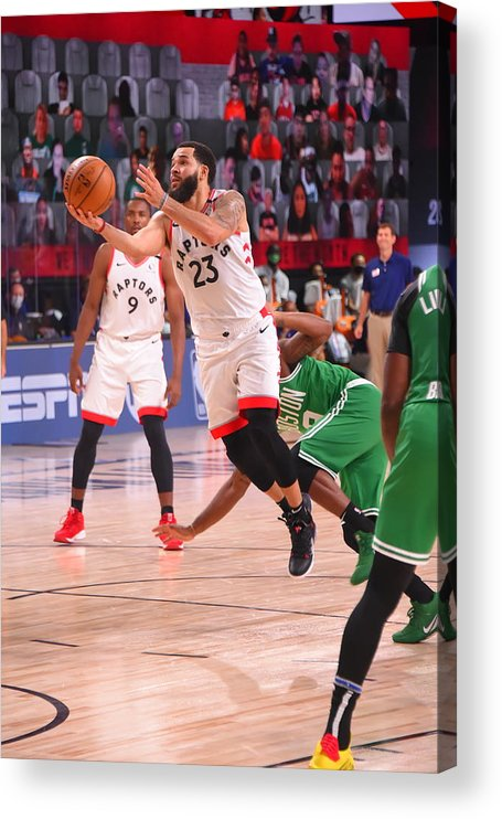 Nba Pro Basketball Acrylic Print featuring the photograph Fred Vanvleet by Bill Baptist