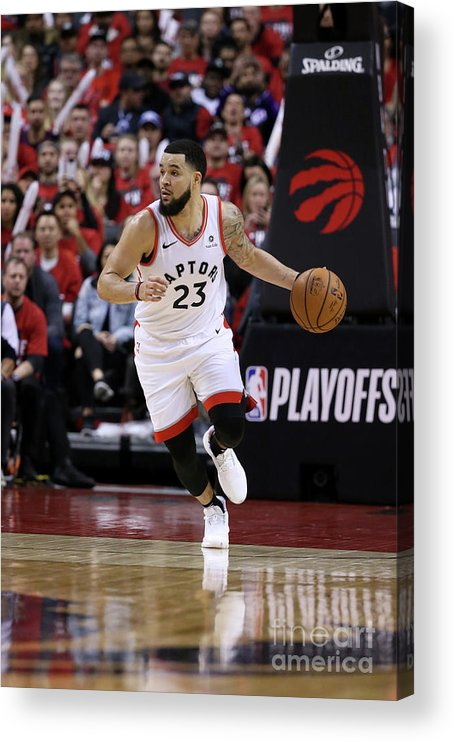 Playoffs Acrylic Print featuring the photograph Fred Vanvleet by David Sherman