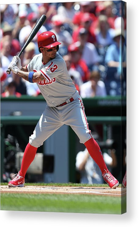 People Acrylic Print featuring the photograph Freddy Galvis by Patrick Smith