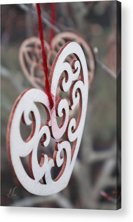 Hearts Acrylic Print featuring the photograph Garden Hearts by D Lee
