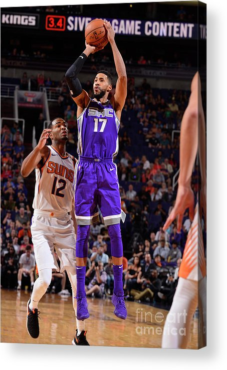 Nba Pro Basketball Acrylic Print featuring the photograph Garrett Temple by Barry Gossage