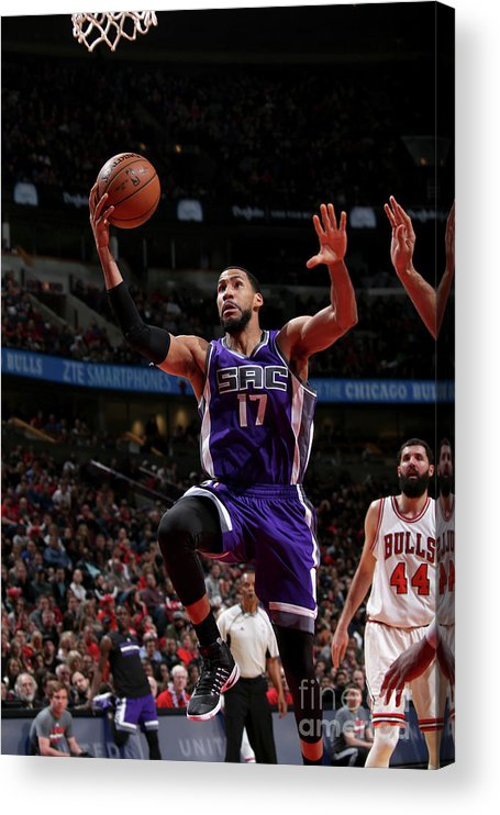 Nba Pro Basketball Acrylic Print featuring the photograph Garrett Temple by Gary Dineen