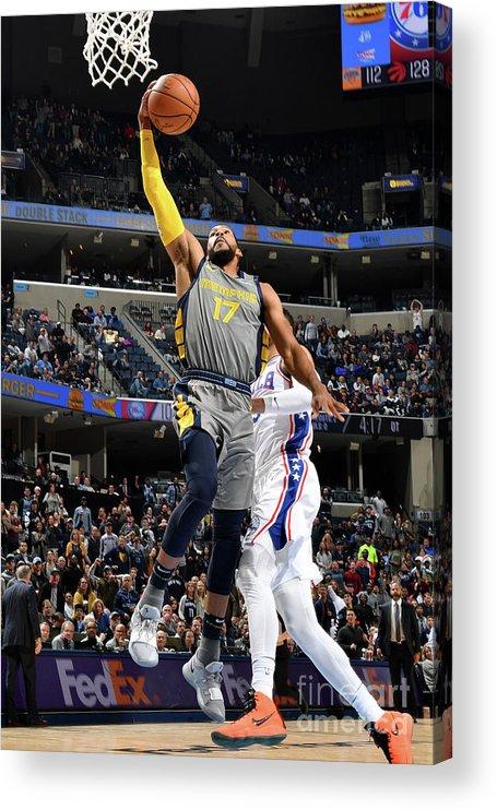 Nba Pro Basketball Acrylic Print featuring the photograph Garrett Temple by Jesse D. Garrabrant