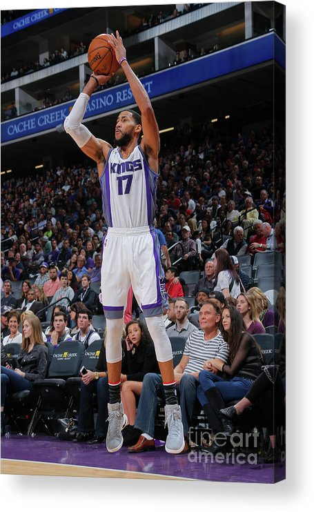Nba Pro Basketball Acrylic Print featuring the photograph Garrett Temple by Rocky Widner