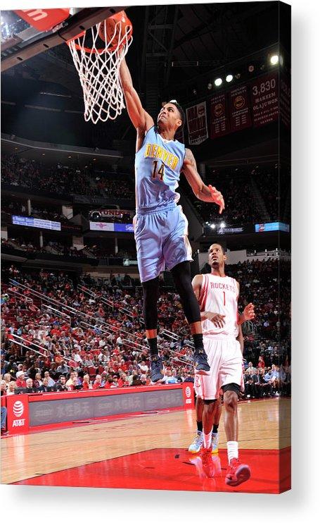 Nba Pro Basketball Acrylic Print featuring the photograph Gary Harris by Bill Baptist