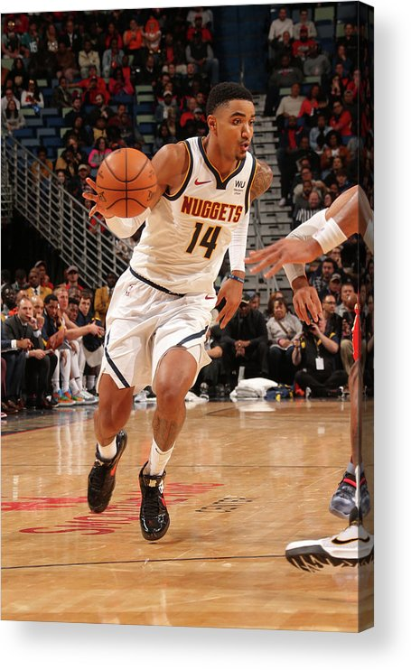 Smoothie King Center Acrylic Print featuring the photograph Gary Harris by Layne Murdoch Jr.
