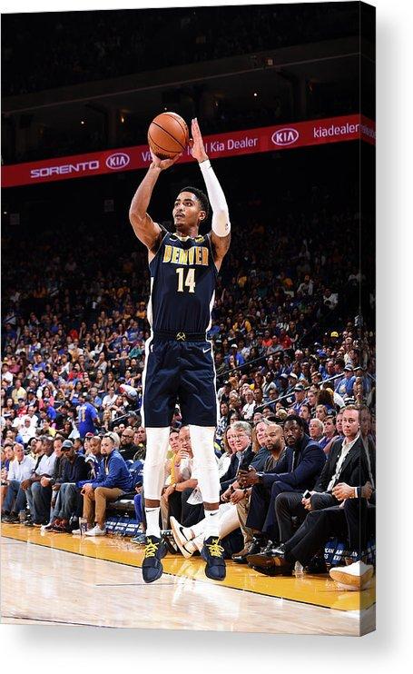 Nba Pro Basketball Acrylic Print featuring the photograph Gary Harris by Noah Graham