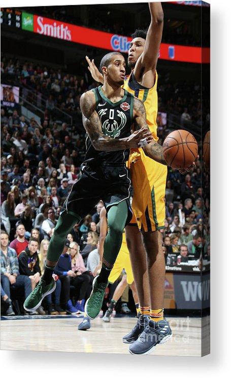 Nba Pro Basketball Acrylic Print featuring the photograph Gary Payton by Melissa Majchrzak