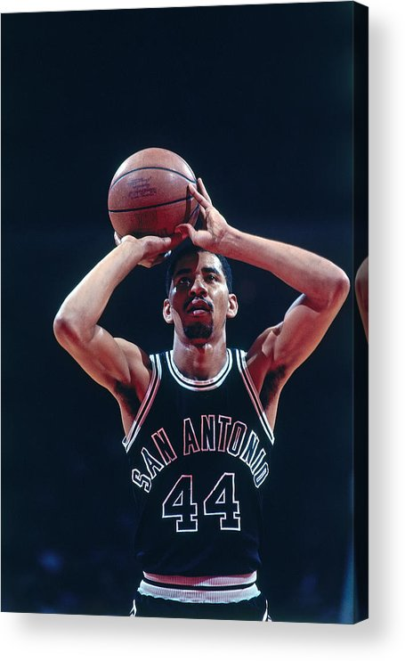 1980-1989 Acrylic Print featuring the photograph George Gervin by Bill Baptist