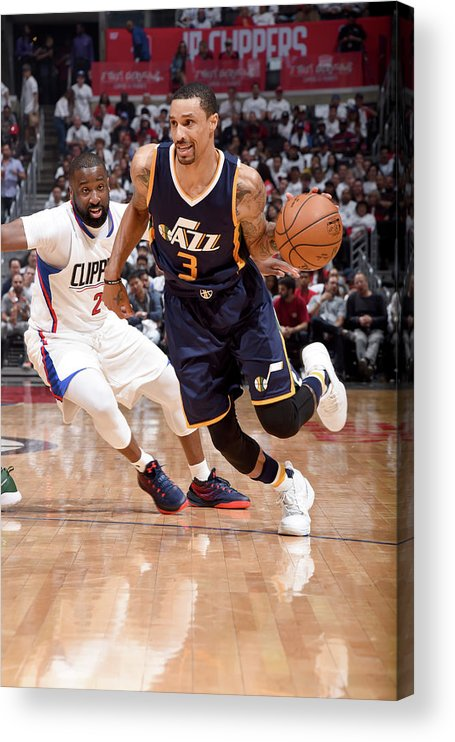 Playoffs Acrylic Print featuring the photograph George Hill by Andrew D. Bernstein