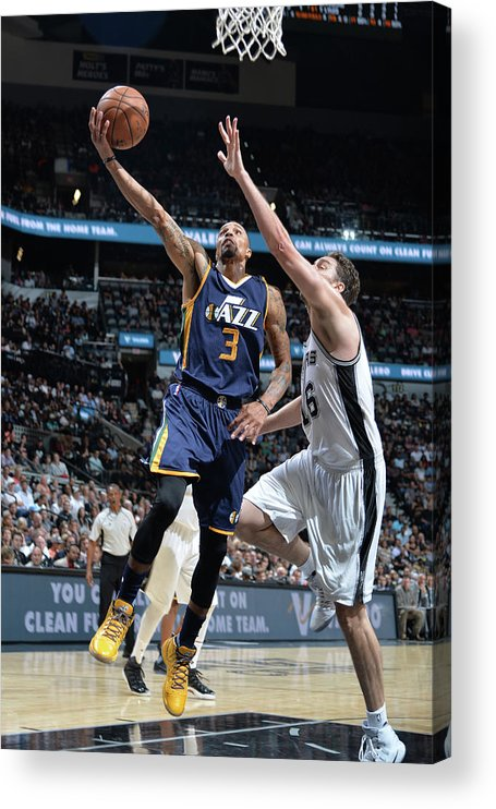 Nba Pro Basketball Acrylic Print featuring the photograph George Hill by Mark Sobhani